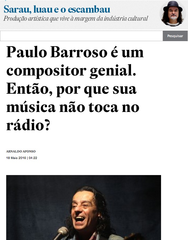 Blog Sarau, Luau e o Escambau de Arnaldo Afonso no site do ESTADÃO